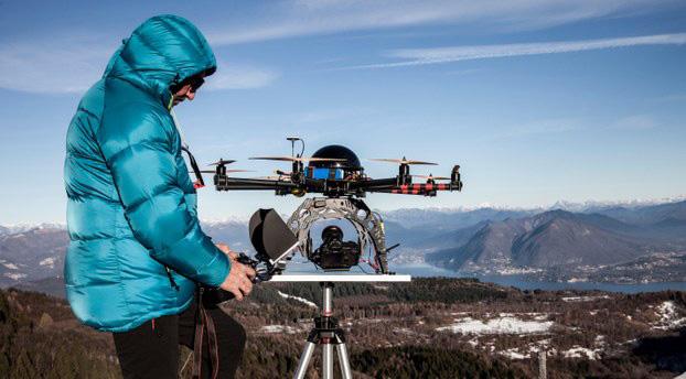 Sử dụng flycam trong chụp ảnh phong cảnh