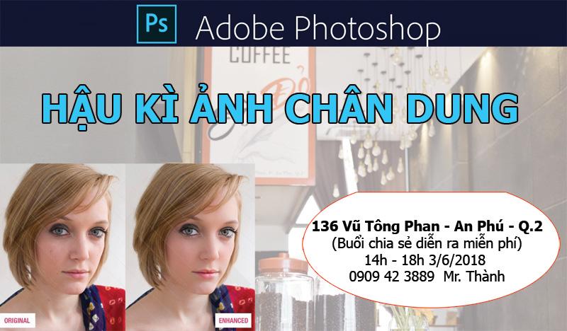 Mời bạn tham gia Workshop Hậu kì ảnh chân dung - Free
